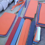 シュランケンカーフで作る人気のトートバッグ制作工程1
